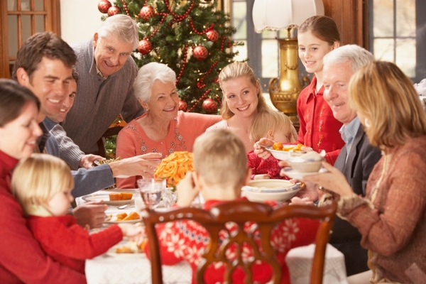Large family eating Christmas dinner  Image downloaded by John O'Reilly at 12:56 on the 02/12/11